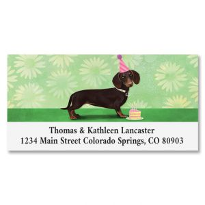 Birthday Hotdog Deluxe Return Address Labels