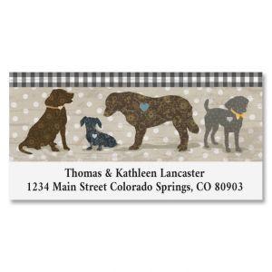 Dog Love Deluxe Return Address Labels