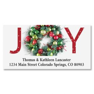 Great Joy Deluxe Return Address Label