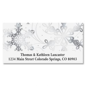 Snow Swirls Deluxe Return Address Labels