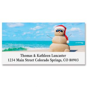 Sandy Snowman Deluxe Return Address Labels