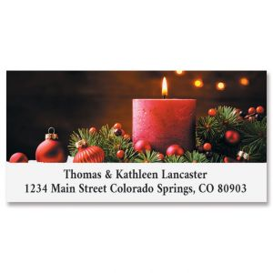 Christmas Candle Deluxe Return Address Labels