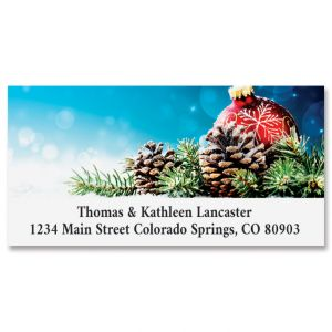 Pinecone Display Deluxe Return Address Labels