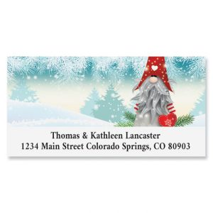 Snowy Elf Deluxe Return Address Label