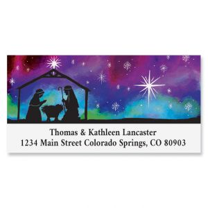 Manger Silhouette Deluxe Return Address Labels