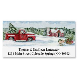 Truckin Along Deluxe Return Address Labels