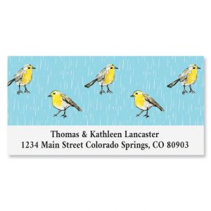 Goldfinch Parade Deluxe Return Address Labels