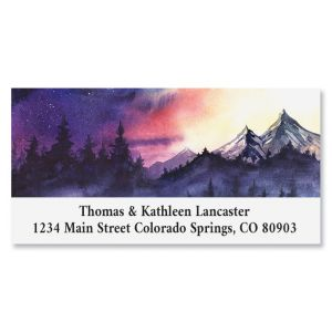 Wilderness Sunset Deluxe Return Address Labels