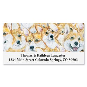 Crowd Of Corgis Deluxe Return Address Labels