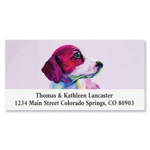 Precious Puppy Deluxe Return Address Labels
