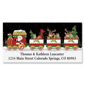 Holiday Train Deluxe Return Address Labels