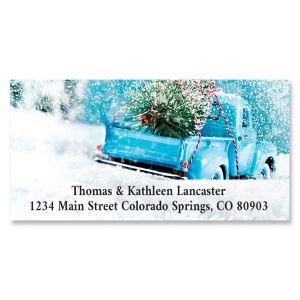 Christmas Tree Truck Deluxe Return Address Labels