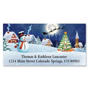 Christmas Night Deluxe Return Address Labels