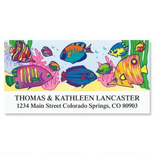 Tropical Splash Deluxe Address Labels