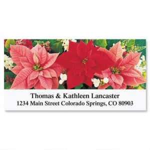 Poinsettia Trio   Deluxe Address Labels