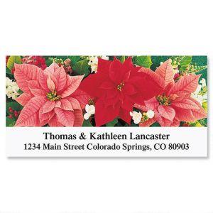 Poinsettia Trio   Deluxe Address Labels