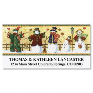 Snow Friends  Deluxe Address Labels
