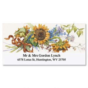 Sandi's Sunflowers  Deluxe Address Labels