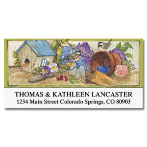 Sandi's Birdhouse Garden Deluxe Address Labels