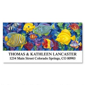 Underwater Festival Deluxe Address Labels