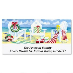 Beachfront Christmas  Deluxe Address Labels