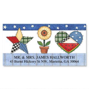 Sandi's Patchwork Pride  Deluxe Address Labels