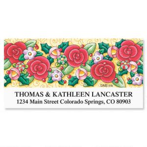 Red Rose Deluxe Address Labels