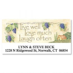 Live, Love, Laugh Deluxe Address Labels