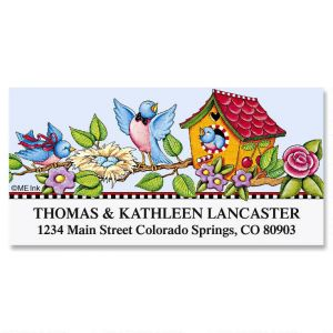 Nesting Song  Deluxe Address Labels