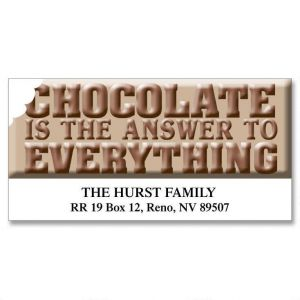 Chocolate  is the Answer... Deluxe Address Labels