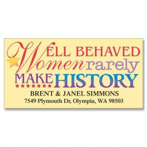 Well-Behaved Women Deluxe Address Labels