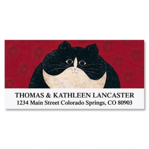 Kitty Deluxe Address Labels by Warren Kimble