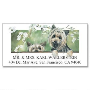 Yorkshire Pair Deluxe Address Labels