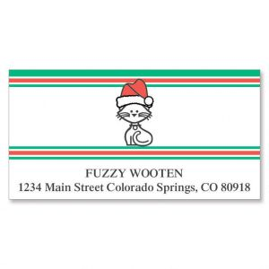 Our Family Holiday Hat Deluxe Address Labels