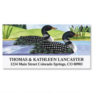 Northcountry Loons Deluxe Address Labels