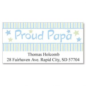 Proud Papa Deluxe Address Labels