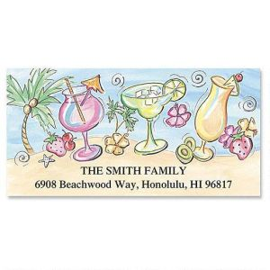 Tropical Coolers Deluxe Address Labels