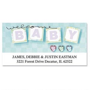 Welcome Baby Deluxe Address Labels