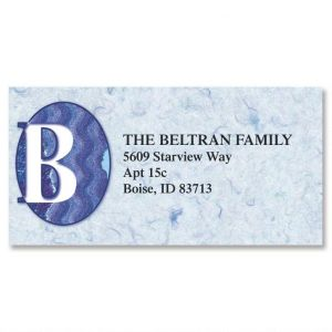 Edgy Initial Border Address Labels