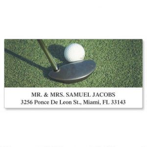 Golfing  Deluxe Address Labels