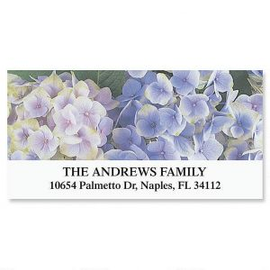Hydrangea Deluxe Address Labels