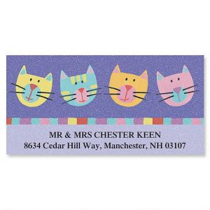Fun Cats Deluxe Address Labels