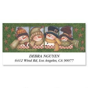 Clever Snowman   Deluxe Address Labels