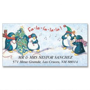 Penguin Hustle  Deluxe Address Labels