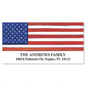 American Flag  Deluxe Address Labels
