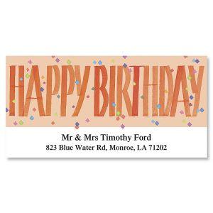 Happy Birthday Deluxe Address Labels