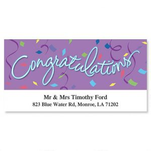 Congratulations Deluxe Address Labels