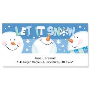 Let it Snow  Deluxe Address Labels