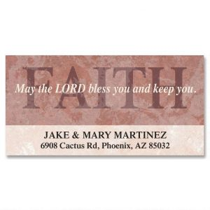 Faith Deluxe Address Labels