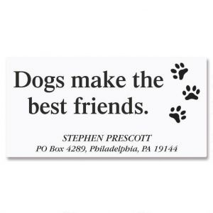 Dog's Life Deluxe Address Labels
